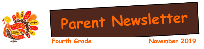 Grade 4 Parent Newsletter November