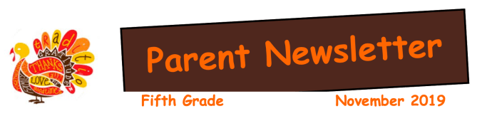 Snapshot of Grade 5 Nov. Newsletter