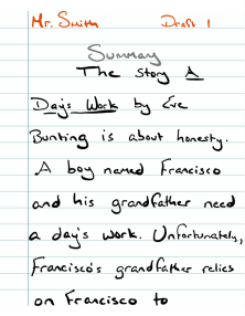 A Day's Work Summary1