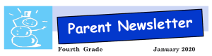 Snapshot of the parent newsletter