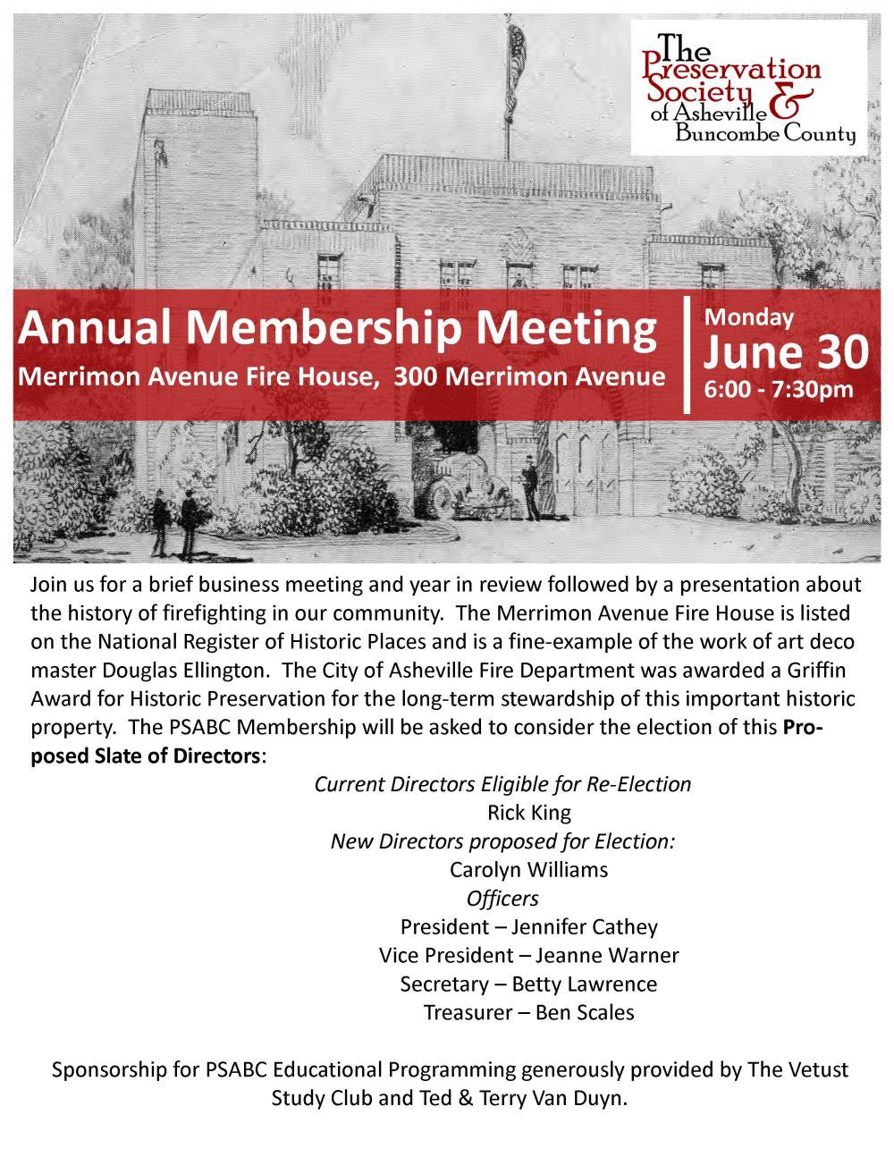 2014 Annual Membership Meeting