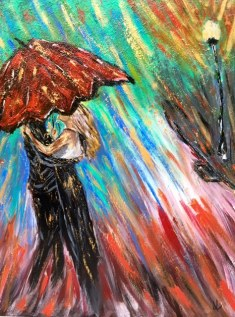 """#JonesingForHodges Dancing in the rain! """" This is Living"""" by Hillsong-""""Black and White turns to color all around. All is new, in the Savior I am found"""""""