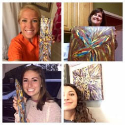 Collage of my paintings and people!!!