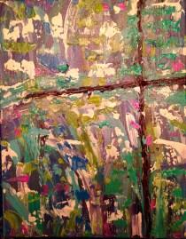 11 x 16 Cross canvas painting