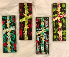 rectangle cross canvases