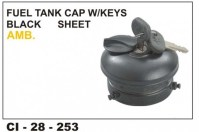 Fuel Tank Cap Ambassador. Full Black.(Sheet) CI-253