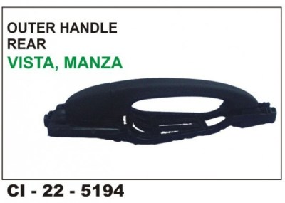 Outer Door Handle Indica Vista,Manza, Sumo Grande, Xenon Rear LHS CI-5194L