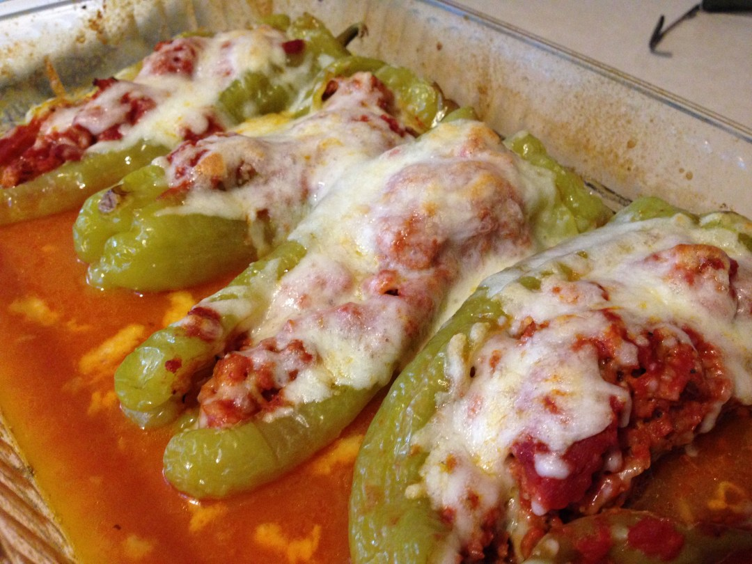 Sausage Stuffed Cubanelle Pepper