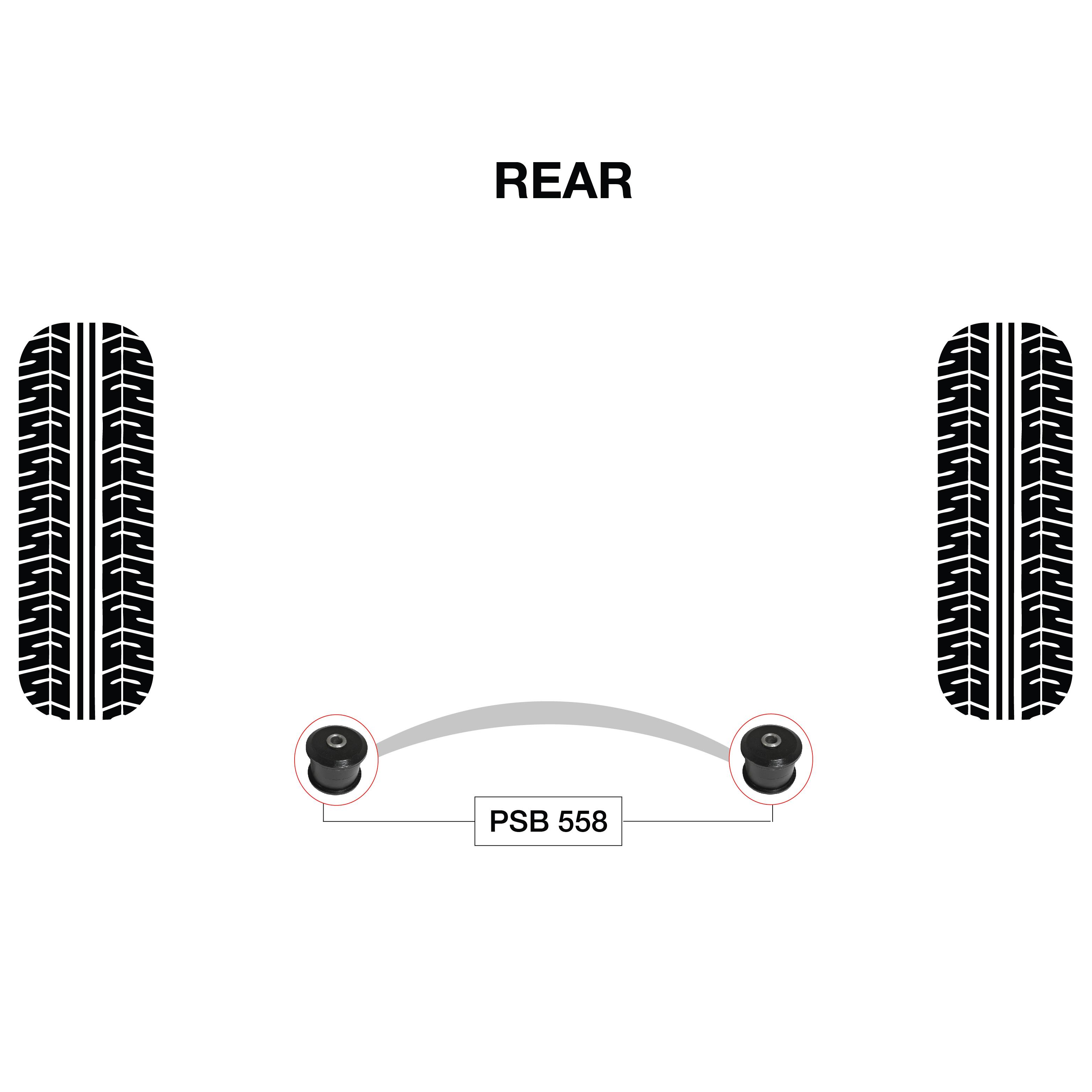 2 X Nissan X Trail T30 01 06 Rear Differential Link Psb