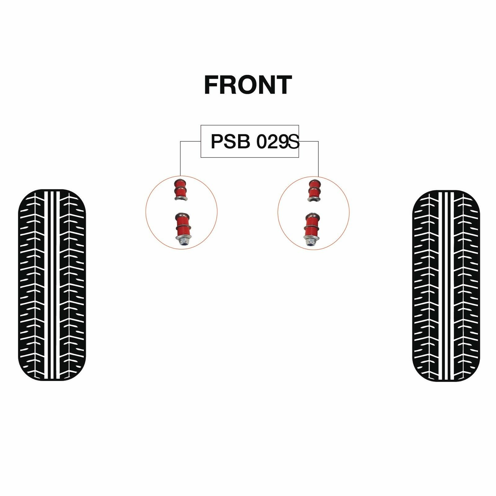 Nissan D21 D22 Np300 Front Anti Roll Bar Link Poly Bush Kits 10mm X 150mm