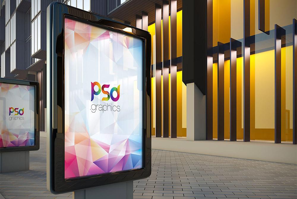 Outdoor Billboard Advertising Mockup Free PSD PSD Graphics