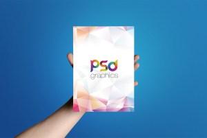 A5 Flyer Mockup Free PSD