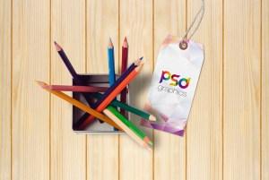 Brand Tag Mockup Free PSD