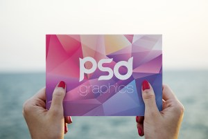 Photo Postcard Mockup PSD