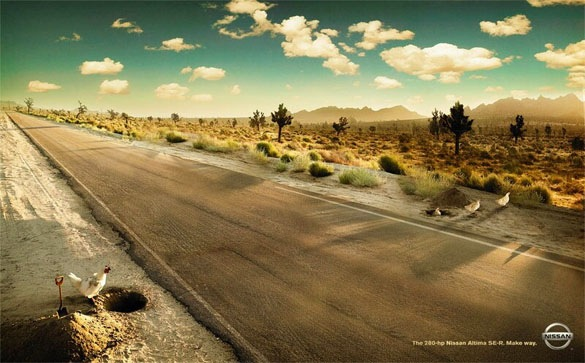 Nissan Chickens Funny Print Ads Crazy but Creative