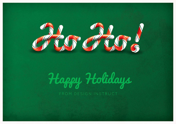 Candy Cane Text Effect Using Illustrator and Photoshop