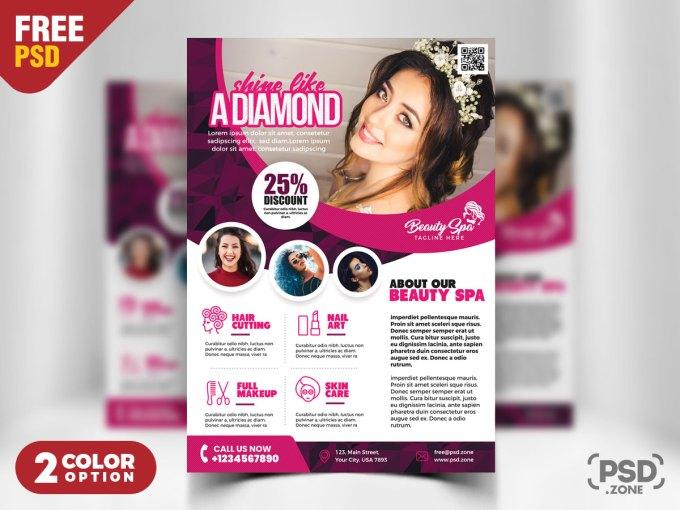 beauty salon flyer template psd - psd zone