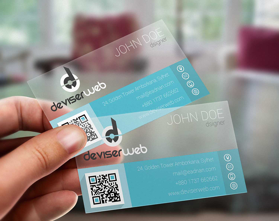 Free Transparent Business Card Download