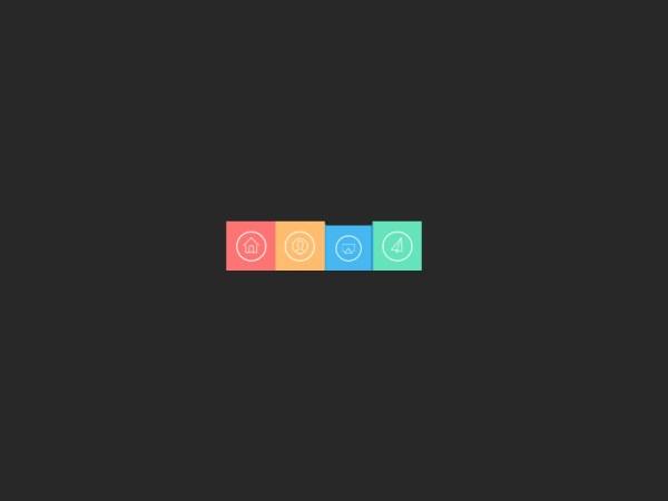 flat colorful navigation menu psd free Download