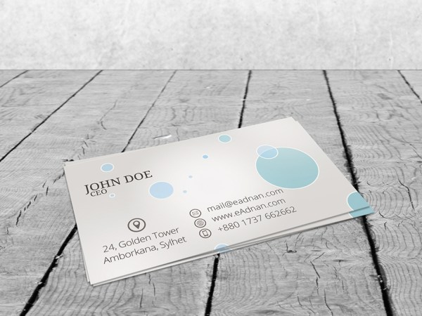 Free PSD Business Card Mock up Download