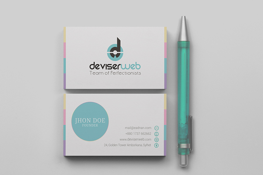 Free modern business card template psd download psdboom for Modern business cards templates