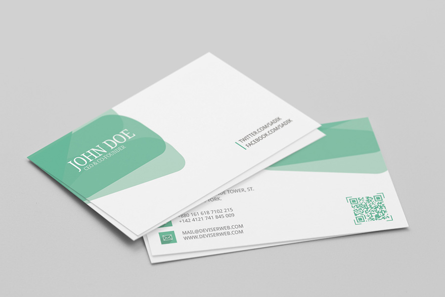 Free personal visiting card template psd psdboom colorful business card template cheaphphosting Image collections