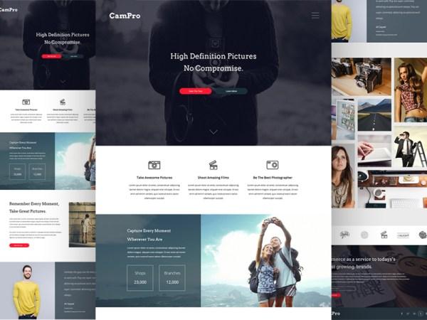 Free Camera Webpage Design PSD