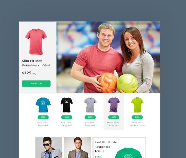Minimal eCommerce Web-Page Design Free Download