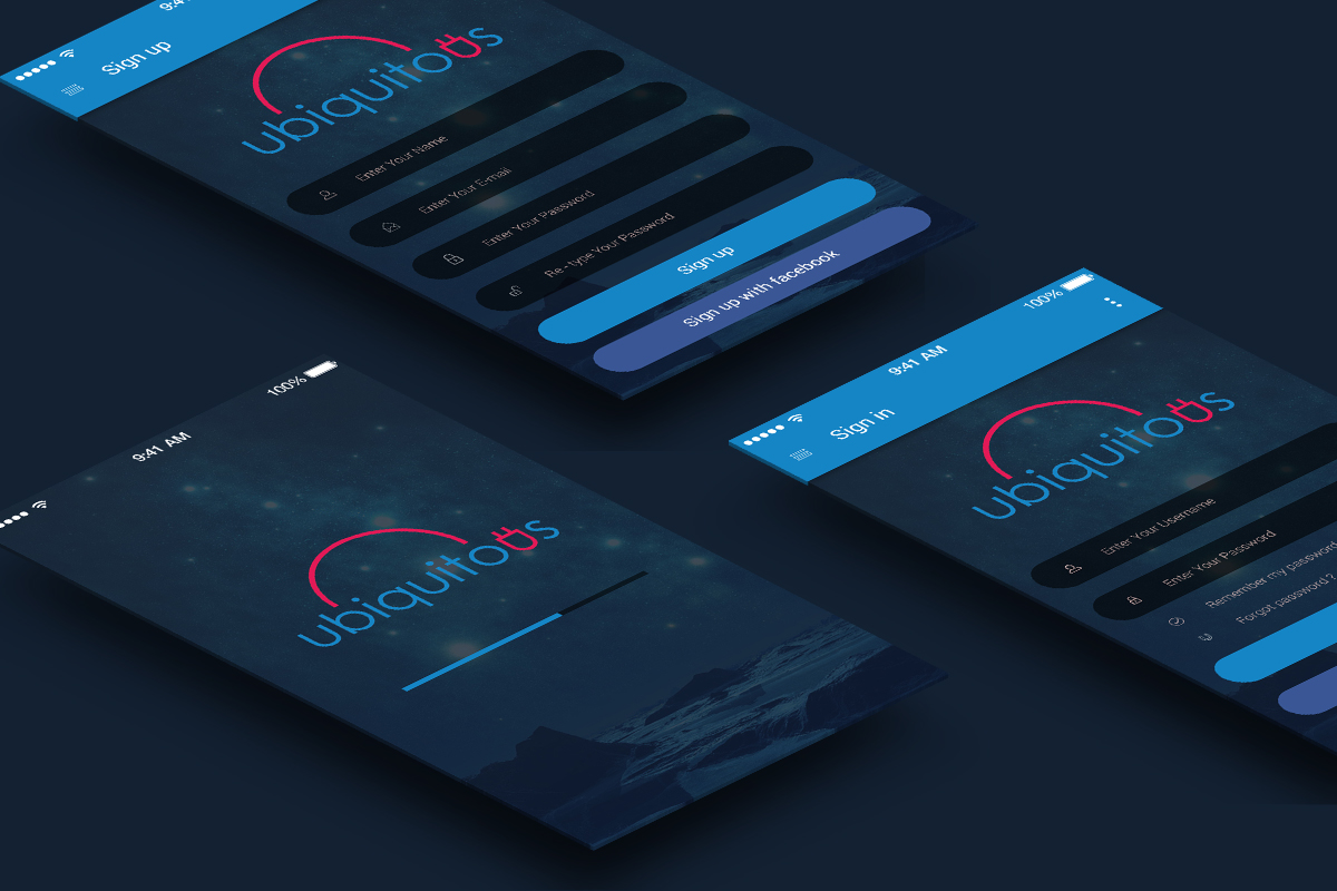 Free psd ios android app login ui psdboom for Ios splash screen template psd