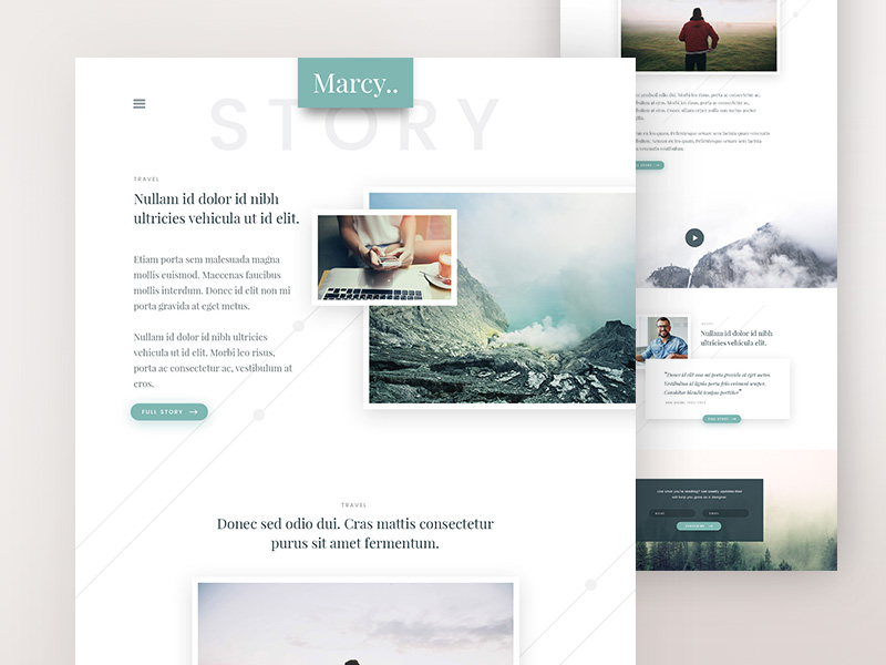 Marcy-peronal-blog-free-psd-website-template