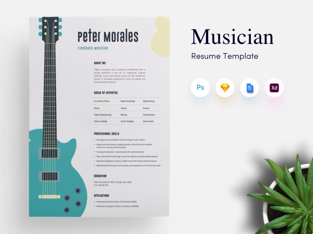 Musician CV/Resume Template