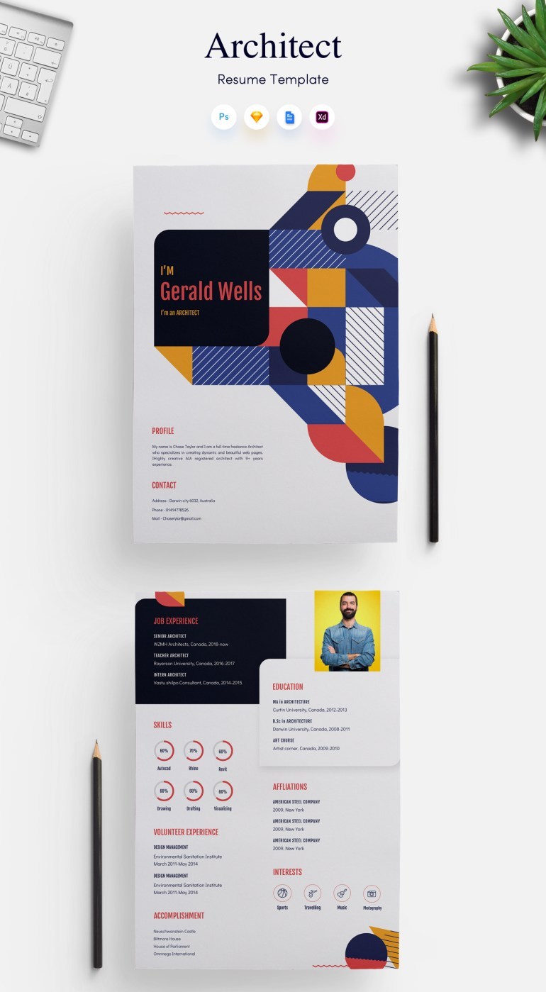 1. Architects CV/Resume Template