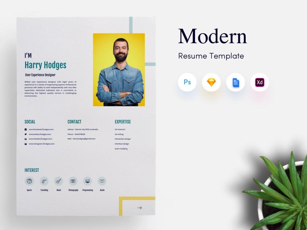 3 Page Modern CV/Resume Template thumb