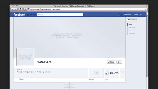 Cover Photo Facebook Template. simple facebook cover template by ...