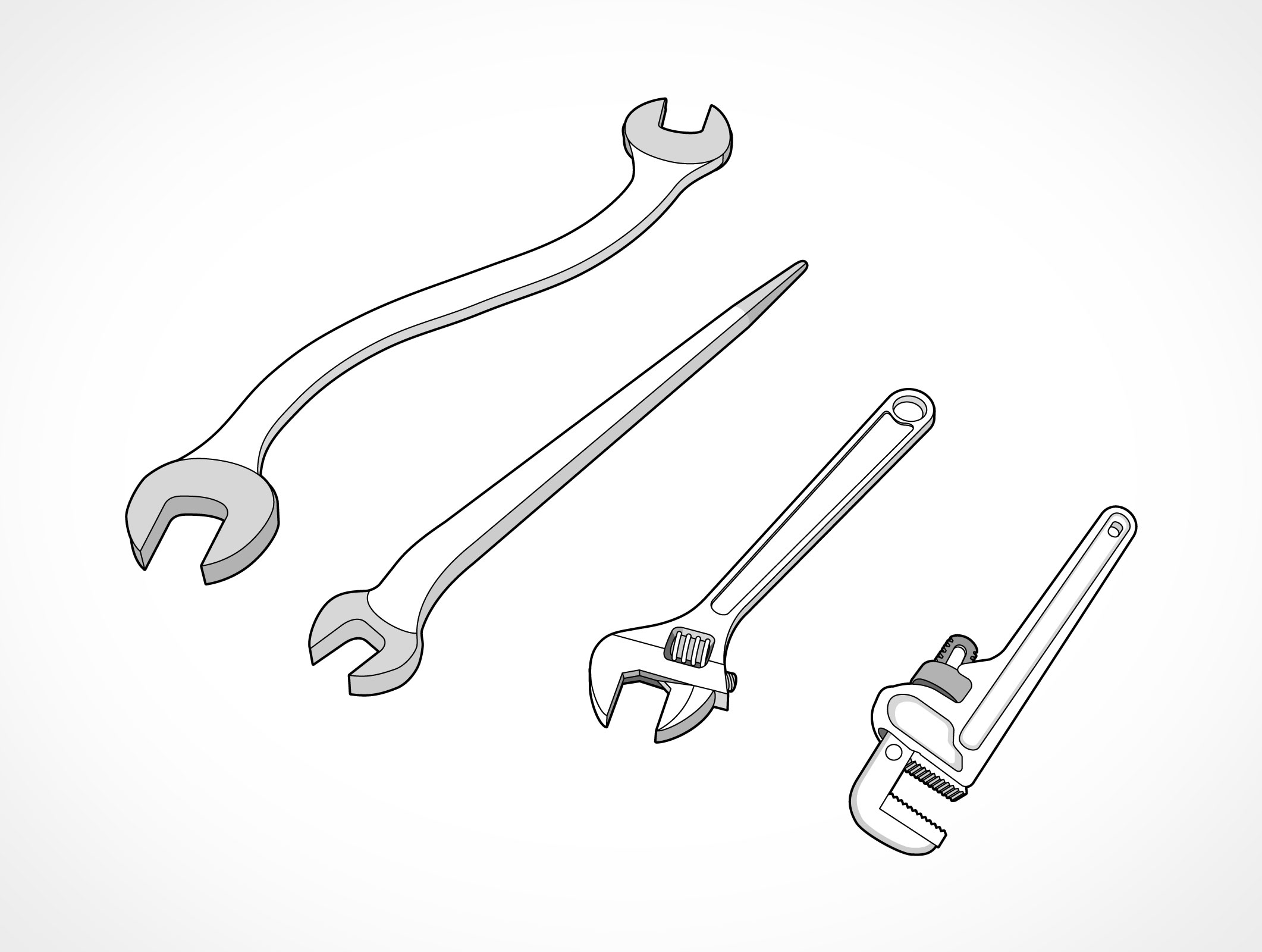 Spanner Wrench Vector Eps