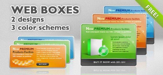6 PSD Web Boxes