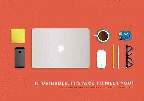 Work Area Desk Objects PSD