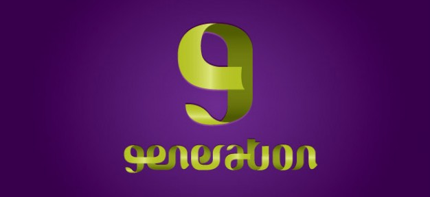 abstract swirled logo design