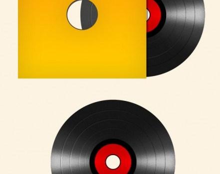 Antique vinyl tape PSD