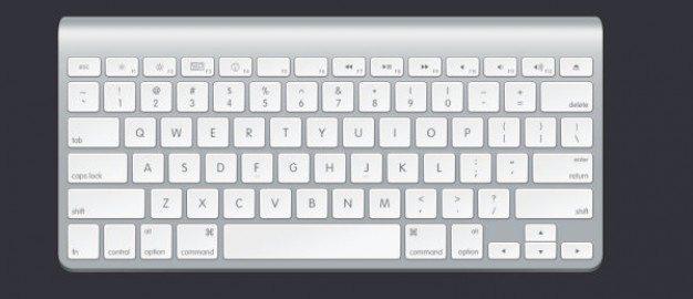 apple keyboard psd layered material