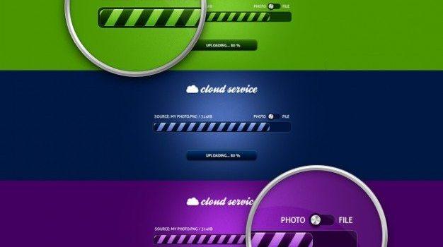 bar button cloud cloudy freebie progress progress bar psd purple service upload