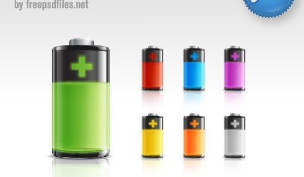 Beautiful battery icon PSD
