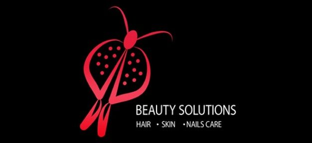 beauty psd logo template
