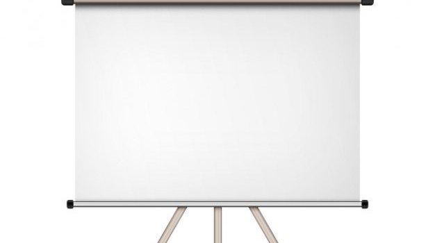 Blank projection screen (PSD)
