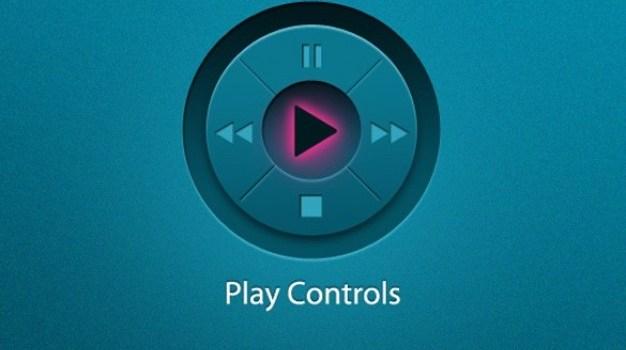 blue play control pad shuffle interface psd
