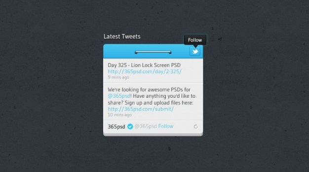 button design follow latest tweets twitter twitter button twitter widget design ui widget