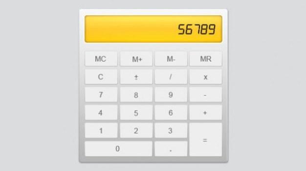 calculator   psd layered material