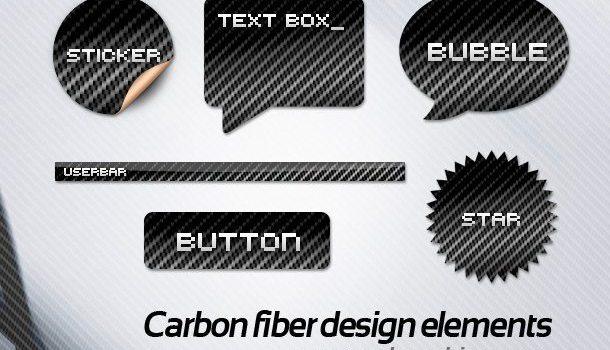 Carbon fiber web design elements