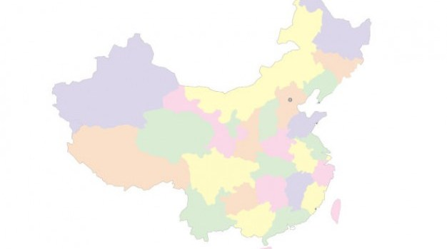 china s four color map