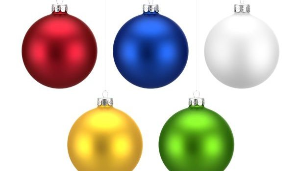 Colorful Christmas balls set (PNG)